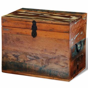vidaXL Kutija za Pohranu od Masivnog Obnovljenog Drveta
