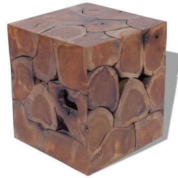 vidaXL Stolci/Stol za Kavu Tikovina (4x243472)