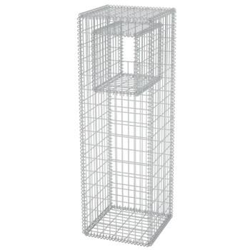 vidaXL Gabionska Košara Stup/Posuda za Sadnju od Čelika 50x50x160 cm