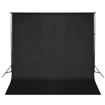Crna foto pozadina s držačima, 6x3 m