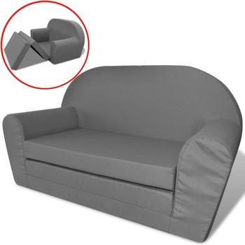 vidaXL Dječji kauč na razvlačenje Ležaj sivi