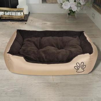 Topli krevet za pse s podstavljenim jastukom S
