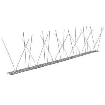 Šiljci protiv golubova od nehrđajućeg čelika u 4 reda 6 kom