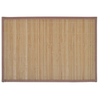 6 Podmetača za Stol od Bambusa 30 x 45 cm Smeđa boja
