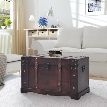 vidaXL Vintage Škrinja za Pohranu Drvena 66x38x40 cm