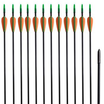 Standardne savijene strijele za luk, 30-inčne, 0,6 cm, 12 komada
