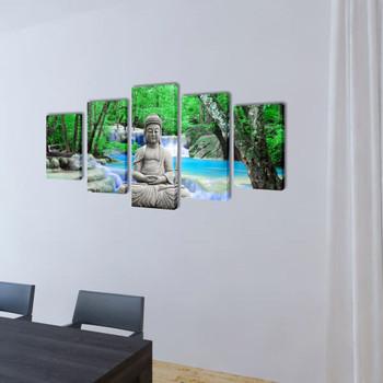 Zidne Slike na Platnu s Printom Buddha 200 x 100 cm