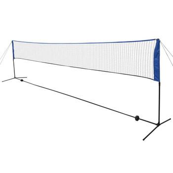 vidaXL Mreža za Badminton sa lopticama 600x155 cm