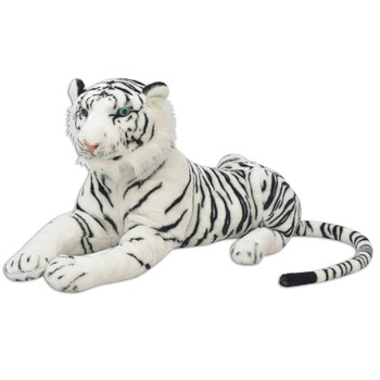 vidaXL Igračka Tigar Pliš Bijela boja XXL