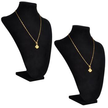 Stalak/poprsje za ogrlice flanelsko crno 2 komada