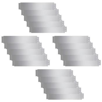 vidaXL Rubnjak za Travnjak Set 20 kom Pocinčani Čelik 100x20 cm (4x142668)