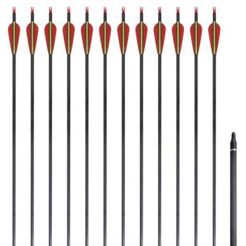 Standardne savijene strijele za luk, 30'', ugljične, 12 komada