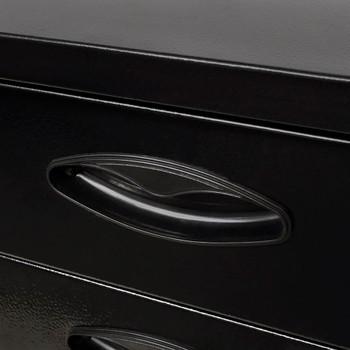 vidaXL Metalna škrinja za alat s 3 ladice crna