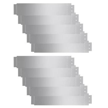 vidaXL Rubnjak za Travnjak Set 10 kom Pocinčani Čelik 100x20 cm (2x142668)