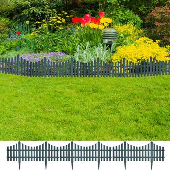 Zelena niska ograda za travnjak 17 kom/10 m