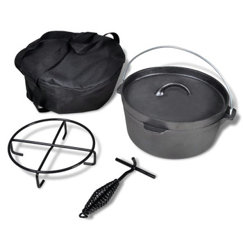 Lonac za kuhanje na otvorenom, 4,2 L, s dodatnim priborom