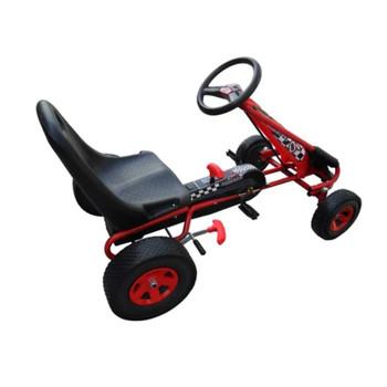 Crveni Go kart s podesivim sjedalom pedalama