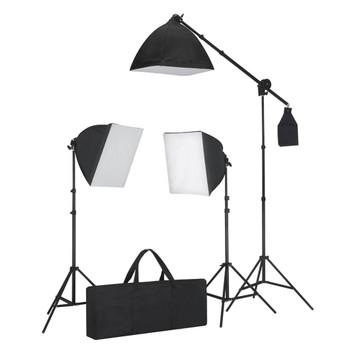 Oprema za Foto Studio: 3 Foto Svjetla sa Stativom i Softboxom