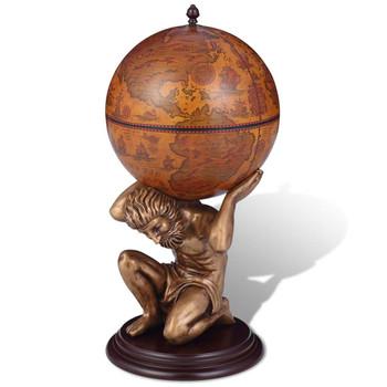 vidaXL Globus Bar Stalak za Vino Dezen Atlasa