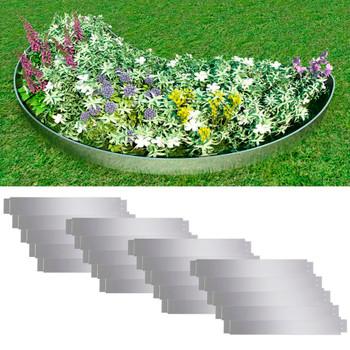 Set 20 savitljivih vrtnih ograda od pocinčanog čelika 100 x 15 cm