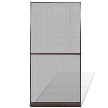 Smeđi zaštitni okvir protiv insekata s šarkama za vrata 120 x 240 cm