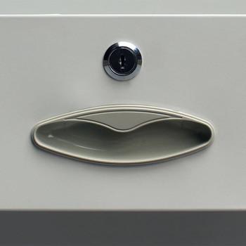 vidaXL Uredski Ormar s 4 vrata Čelik 90x40x180 cm Sivi