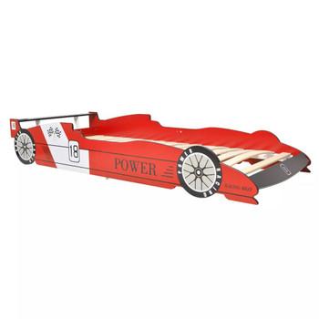 vidaXL Dječji Krevet Trkaći Auto 90x200 cm Crveni