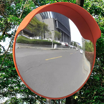 Konveksno prometno ogledalo od narančaste plastike 45 cm