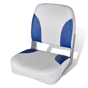 Sklopiva stolica za plovila jastukom boje plave-bijele 41 x 36 x 48 cm