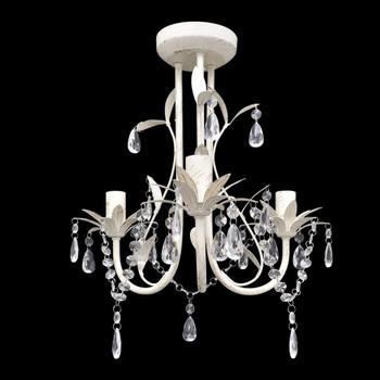 Elegantan bijeli luster viseći luster