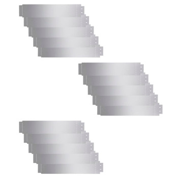 vidaXL Rubnjak za Travnjak Set 15 kom Pocinčani Čelik 100x20 cm (3x142668)