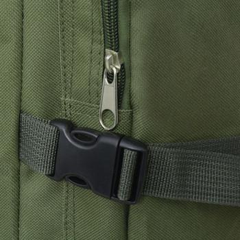 vidaXL Ruksak 65 L Vojni stil Zelena boja