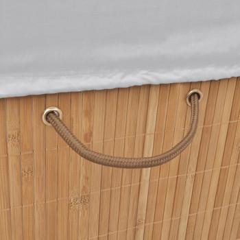vidaXL Košara za rublje od bambusa pravokutna prirodna boja