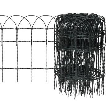 Proširiva niska ograda za travnjak,25 x 0,4 m