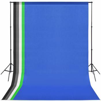 vidaXL Oprema za Foto Studio s 5 Raznobojnih Pozadina i Podesivi Okvir