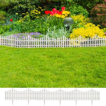 Bijela niska ograda za travnjak 17 kom/10 m