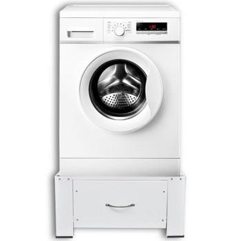 Bijelo postolje za stroj za pranje rublja s ladicom