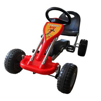 vidaXL Go Kart Auto s Pedalama Crveni