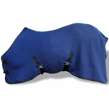 Vuneni Pokrivač za Konje s Pojasom 115 cm plavi