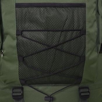 vidaXL Ruksak XXL 100 L Vojni stil Zelena boja