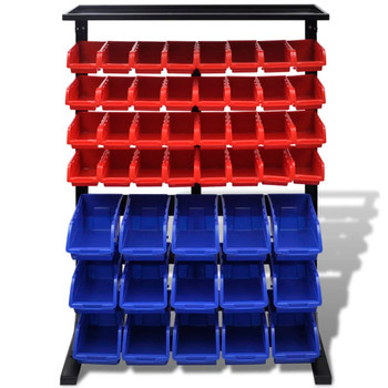 Set zidnih kutija za alat, 47 kom , crvena i plava