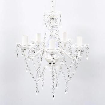 Luster s prozirnim kristalima 5 žarulja