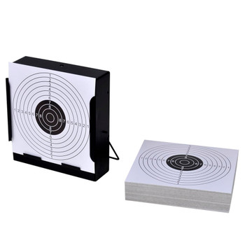 14 cm Kvadratni držač papirnate mete + 100 papirnatih meta