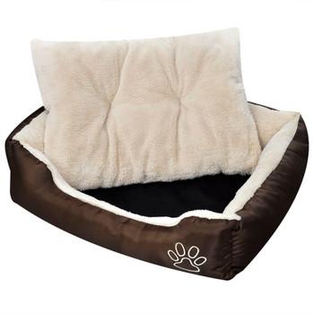 Topli krevet za pse s podstavljenim jastukom M