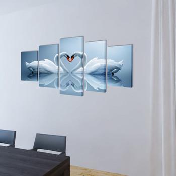 Zidne Slike na Platnu Set- Labud 100 x 50 cm