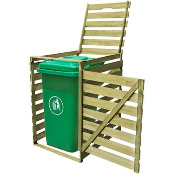 vidaXL Impregnirana drvena kućica za kantu za smeće 240 L