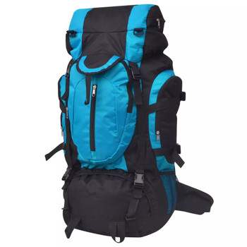 vidaXL Ruksak za Planinarenje XXL 75 L Crno-Plavi