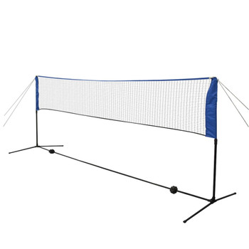 vidaXL Set za Badminton s Mrežom i Lopticama 300x155 cm