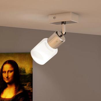 Stropna lampa LED 1 stakleni abažur