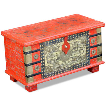 vidaXL Škrinja za Pohranu Crvena Mango drvo 80x40x45 cm